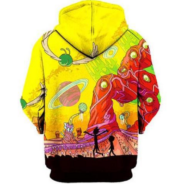 Rick and Morty Pullover Hoodie OTA868 - otakumadness