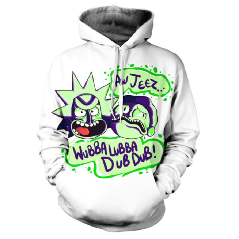 Rick and Morty Pullover Hoodie OTA880 - otakumadness
