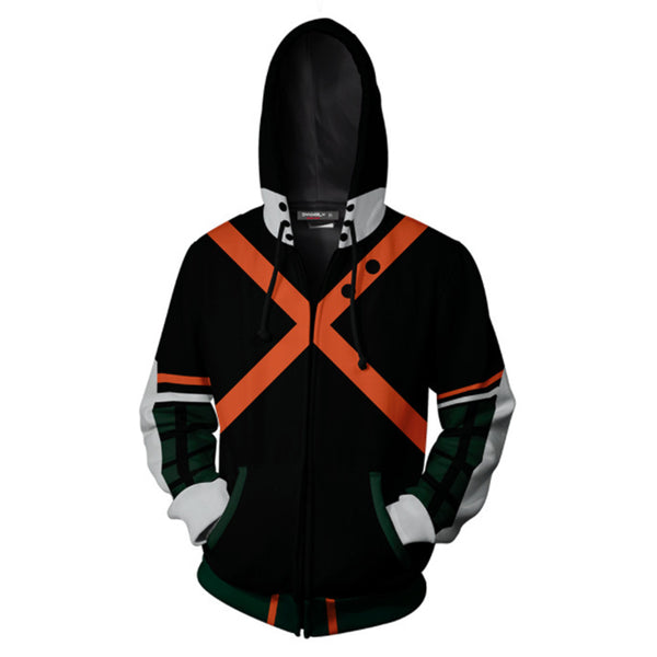 My Hero Academia Anime Cosplay Costume Sweatshirt Zip Up Hoodie OTKS100 - otakumadness