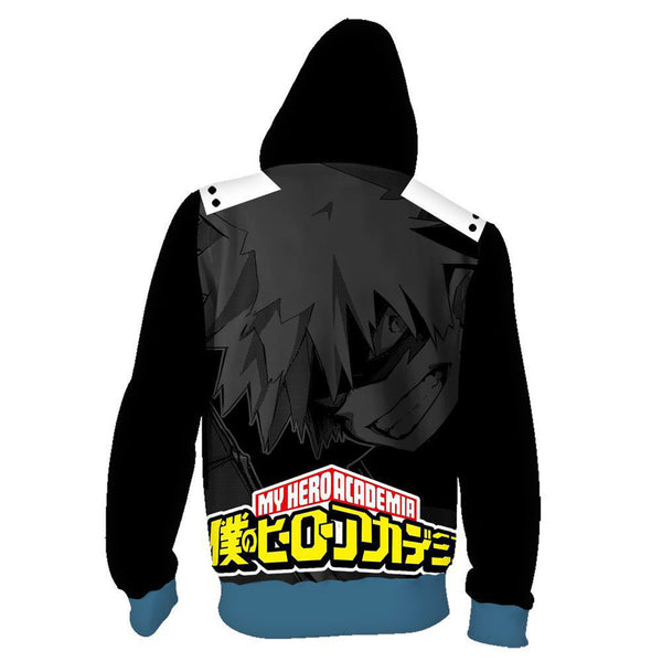 My Hero Academia Anime Cosplay Costume Sweatshirt Zip Up Hoodie OTKS101 - otakumadness