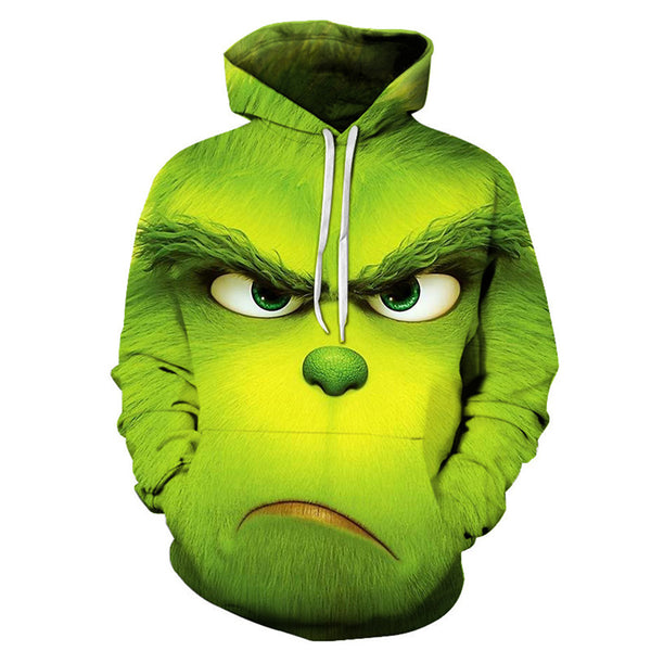 The Grinch 3D Printed Unisex Pullover Hoodie OTKS401 - otakumadness