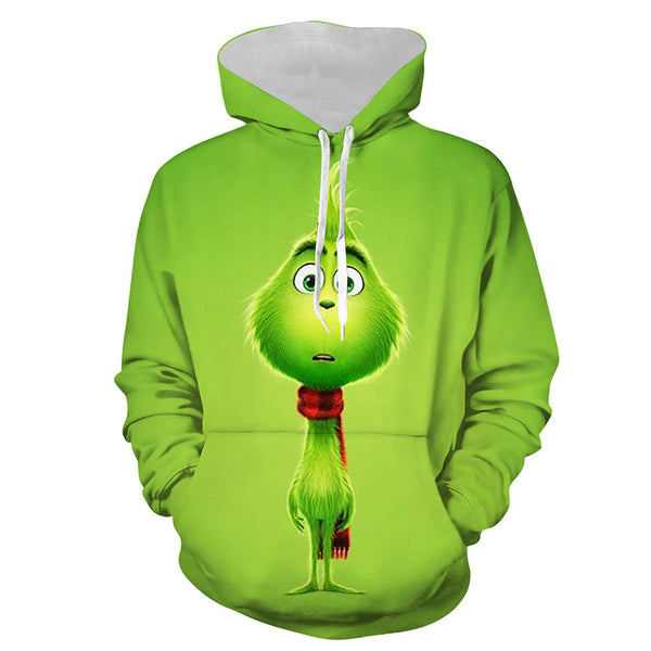 The Grinch 3D Printed Unisex Pullover Hoodie OTKS402 - otakumadness