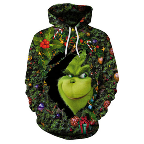The Grinch 3D Printed Unisex Pullover Hoodie OTKS410 - otakumadness