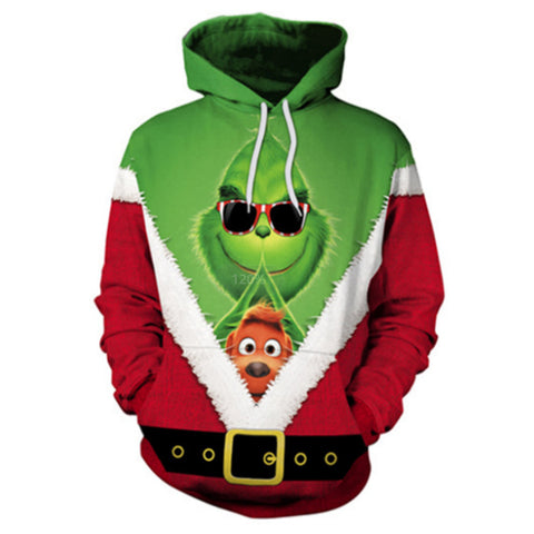 The Grinch 3D Printed Unisex Pullover Hoodie OTKS411 - otakumadness