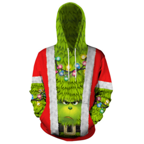 The Grinch 3D Printed Unisex Pullover Hoodie OTKS412 - otakumadness