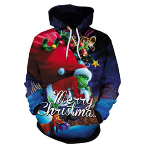 The Grinch 3D Printed Unisex Pullover Hoodie OTKS413 - otakumadness