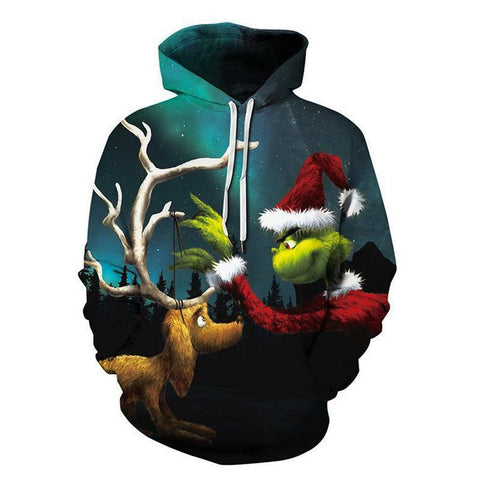The Grinch 3D Printed Unisex Pullover Hoodie OTKS414 - otakumadness