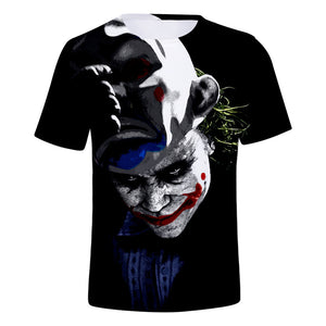 DC Batman The Joker 3D Print Dark Joker Graphic T-Shirt OTKS902 - otakumadness