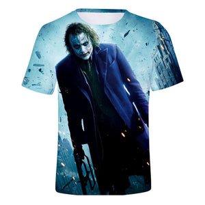 DC Batman The Joker 3D Print Heath Ledger Graphic T-Shirt OTKS903 - otakumadness
