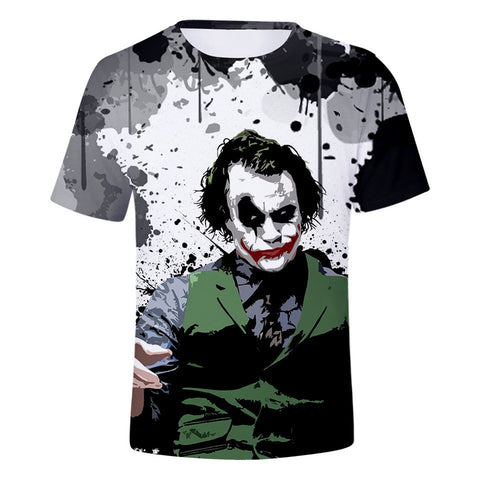 DC Batman The Joker 3D Print Heath Ledger Graphic T-Shirt OTKS906 - otakumadness