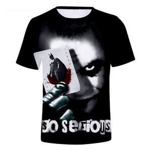 DC Batman The Joker 3D Print Joker with Card Graphic T-Shirt OTKS907 - otakumadness