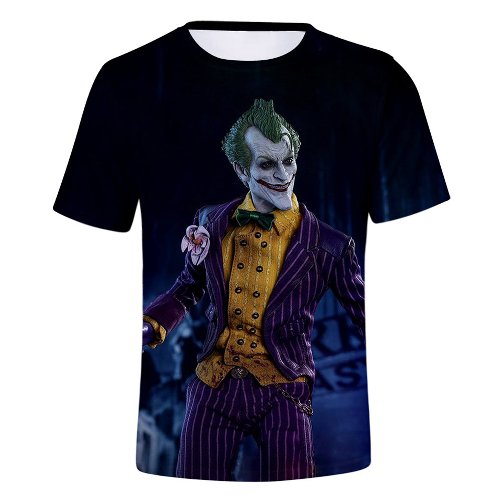 DC Batman The Joker 3D Print Joker in Suit Graphic T-Shirt OTKS910 - otakumadness