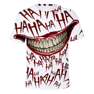 DC Batman The Joker 3D Print Laughing Mouth Graphic T-Shirt OTKS911 - otakumadness