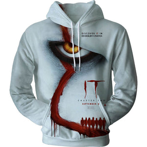 Pennywise Clown Cosplay Costume 3D Print Pullover Hoodie OTKS222 - otakumadness