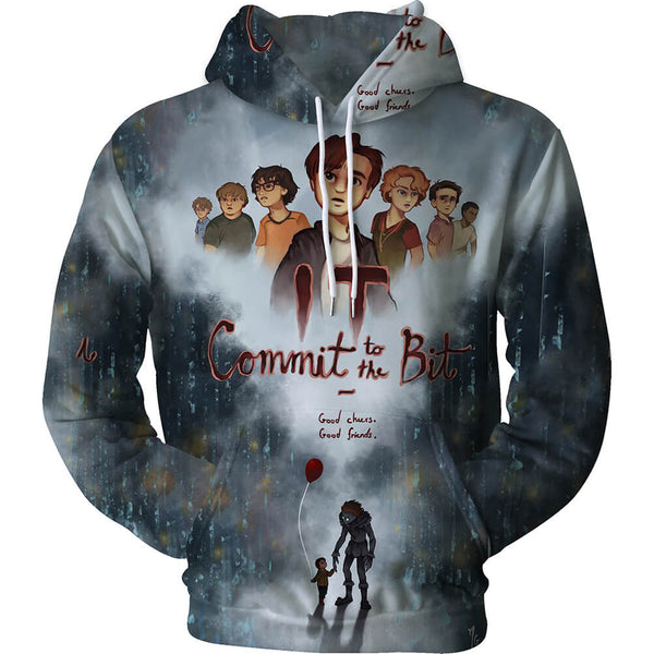 Pennywise Clown Cosplay Costume 3D Print Pullover Hoodie OTKS213 - otakumadness