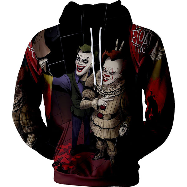 Pennywise Clown Cosplay Costume 3D Print Pullover Hoodie OTKS212 - otakumadness
