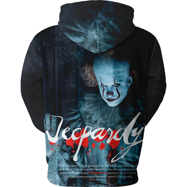 Pennywise Clown Cosplay Costume 3D Print Pullover Hoodie OTKS217 - otakumadness