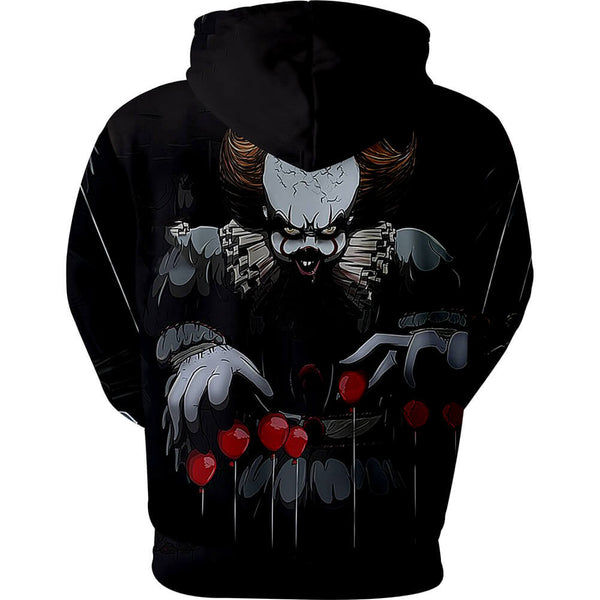 Pennywise Clown Cosplay Costume 3D Print Pullover Hoodie OTKS211 - otakumadness
