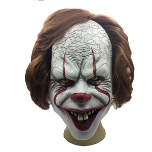 Halloween Pennywise Cosplay Latex Clown Mask - otakumadness