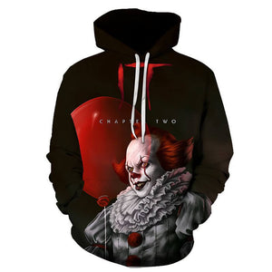 Pennywise Clown Cosplay Costume 3D Print Pullover Hoodie OTKS201 - otakumadness