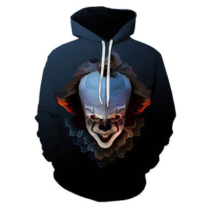 Pennywise Clown Cosplay Costume 3D Print Pullover Hoodie OTKS205 - otakumadness