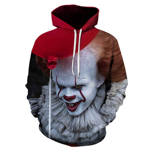 Pennywise Clown Cosplay Costume 3D Print Pullover Hoodie OTKS208 - otakumadness