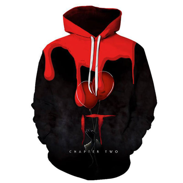 Pennywise Clown Cosplay Costume 3D Print Pullover Hoodie OTKS209 - otakumadness