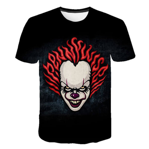 Pennywise Clown 3D Print Graphic T-Shirt OTKS306 - otakumadness