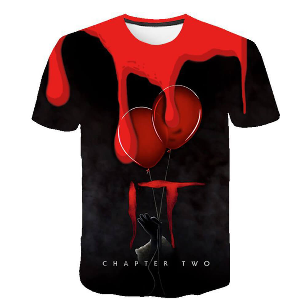 Pennywise Clown 3D Print Graphic T-Shirt OTKS305 - otakumadness