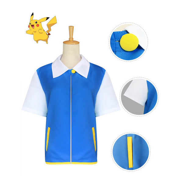 Pokemon Jacket Cosplay Costume Halloween Outfit OTKS115 - otakumadness