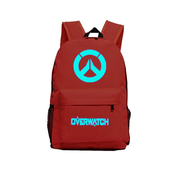 "Game Overwatch 17"" Canvas Luminous Bag Backpack OTAB027 - otakumadness"