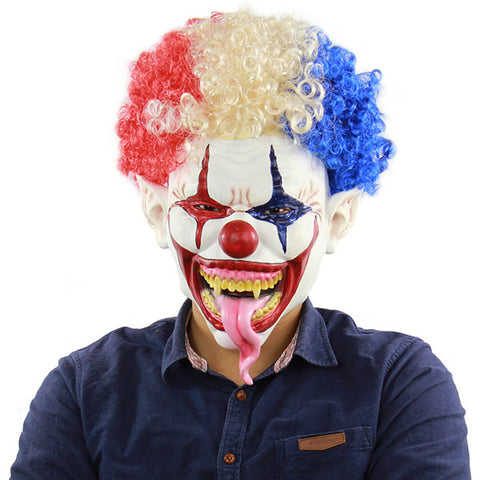 Scary Latex  Clown Mask - otakumadness