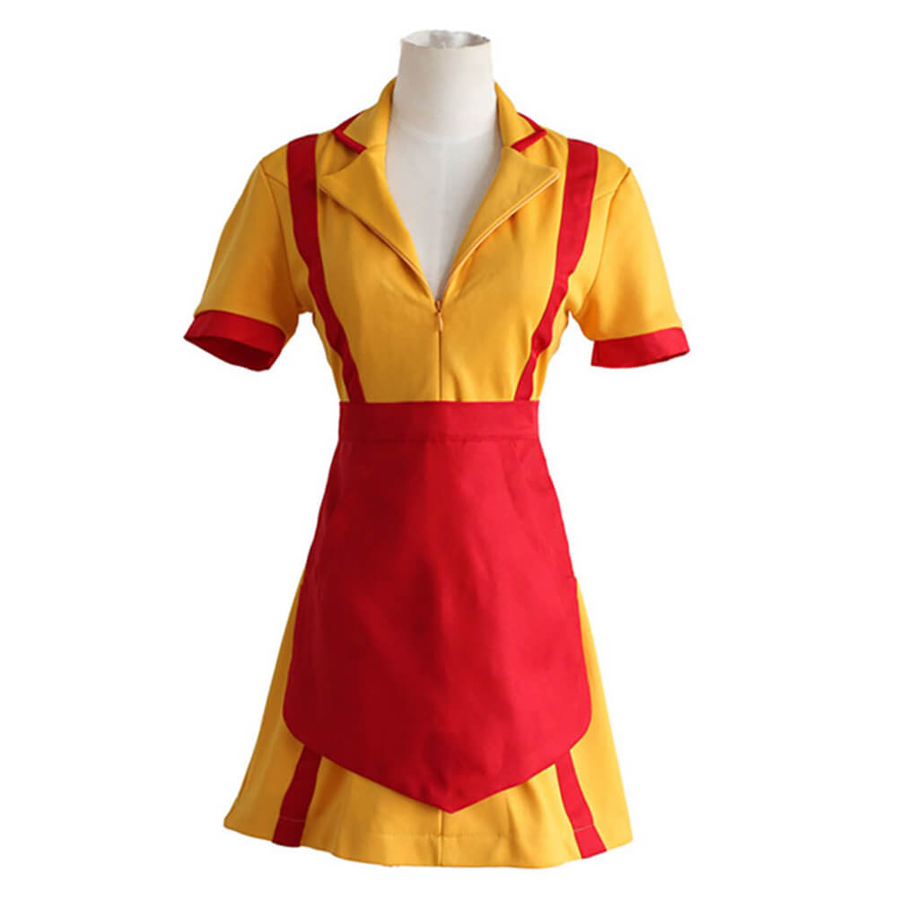 2 Broke Girls Waitress Uniform Cosplay Costume Halloween Outfit OTKS026 - otakumadness