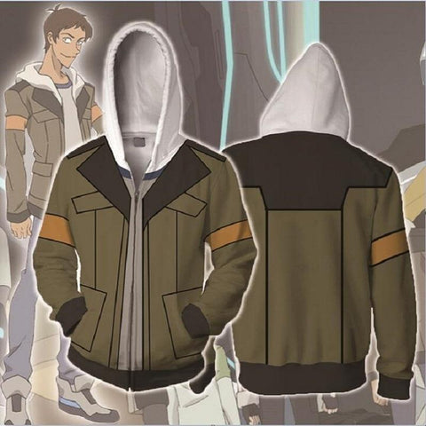 Voltron Hoodies - Legendary Defender Lance Zip Up Hoodie OTA561 - otakumadness
