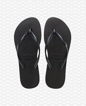 Load image into Gallery viewer, HAVAIANAS SLIM BLACK