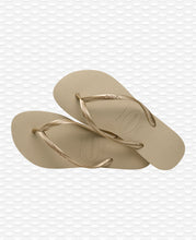 Load image into Gallery viewer, HAVAIANAS SLIM SAND GREY/LIGHT GOLDEN