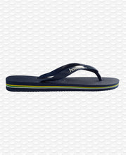 Load image into Gallery viewer, HAVAIANAS BRASIL LOGO NAVY BLUE