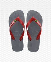 Load image into Gallery viewer, HAVAIANAS BRASIL LOGO STEEL GREY/RED