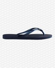 Load image into Gallery viewer, HAVAIANAS SLIM SWAROVSKI CRYSTAL NAVY BLUE