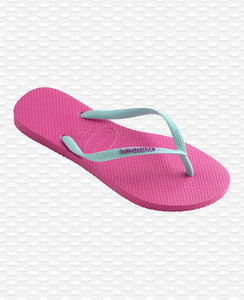HAVAIANAS SLIM LOGO HOLLYWOOD ROSE\ICE BLUE