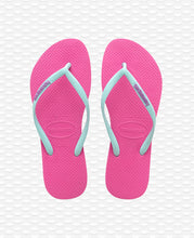 Load image into Gallery viewer, HAVAIANAS SLIM LOGO HOLLYWOOD ROSE\ICE BLUE