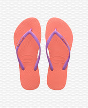 Load image into Gallery viewer, HAVAIANAS SLIM LOGO ORANGE CYBER