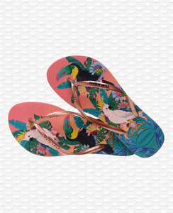 HAVAIANAS SLIM TROPICAL SILK ROSE