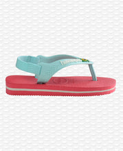 Load image into Gallery viewer, HAVAIANAS BABY BRASIL LOGO II FLAMINGO
