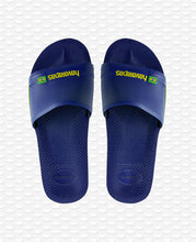 Load image into Gallery viewer, HAVAIANAS SLIDE BRASIL NAVY BLUE
