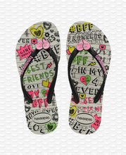 Load image into Gallery viewer, HAVAIANAS KIDS SLIM BFF WHITE