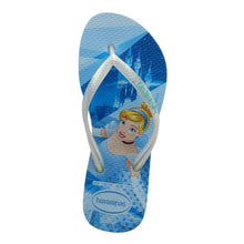 Load image into Gallery viewer, HAVAIANAS KIDS SLIM PRINCESS BLUE SPLASH