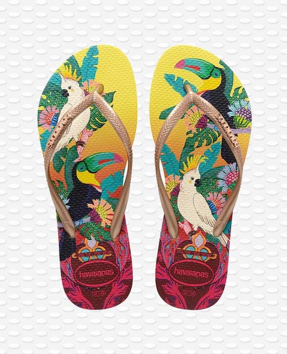 HAVAIANAS SLIM TROPICAL LEMON YELLOW