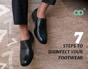 7 STEPS TO DISINFECT YOUR FOOTWEAR.