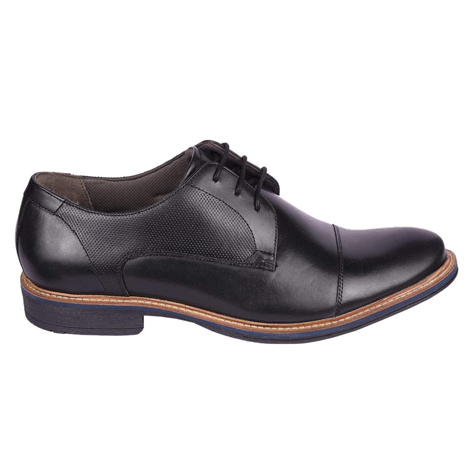 Dino Black Embossed Lace Up Formal Shoe